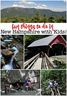 The White Mountains of New Hampshire is a fantastic family road trip destination- especially in the summertime when there is so much to get out and see and do! Here are some of our favorite things to do in New Hampshire with kids! Family Road Trips, Family Travel, Stuff To Do, Things To Do, New England Travel, Road Trip Destinations, White Mountains, Spain Travel, Mexico Travel