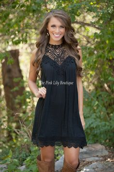 The Pink Lily Boutique - You're A Stunner Lace Dress , $38.00 (http://thepinklilyboutique.com/youre-a-stunner-lace-dress/)