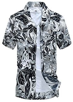 APTRO Men's Colorful Floral Printing Short Sleeved Summer Beach Shirt ST18 Grey and Black XL APTRO http://www.amazon.co.uk/dp/B010LD9T8O/ref=cm_sw_r_pi_dp_yYoywb106S6BA