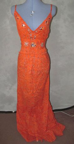 Yours,ladies,plus,size 24,orange,floral,strappy,long lth,cotton,Summer,Sundress.