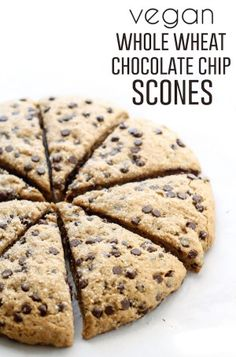 Vegan Whole Wheat Chocolate Chip Scones. The perfect scone texture ...