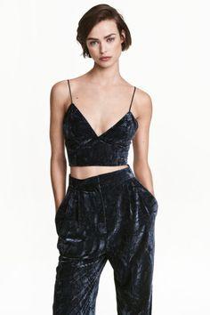 Bustier in crushed velvet | H&M