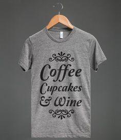 Coffee, Cupcakes & Wine.