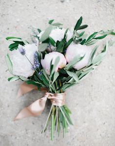 Lavender In Wedding Bouquet