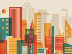 Buildings #illustration #shapes #color