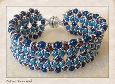 O-Duo bracelet beaded by Amy Blevins. Beautiful! Thank you for sharing!