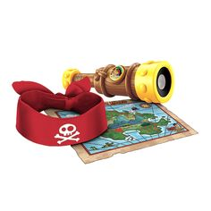 Fisher-Price Jake and the Never Land Pirates - Jakes Talking Spyglass. This life size Telescope has the Pirate styling straight from the show. Pull the eye piece section to fully extend the Pirate Scope. Press the Jake logo on the button to activate special Jake phrases and
