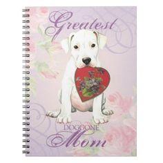 #Dogo Heart Mom Spiral Notebook - #mastiff #puppy #dog #dogs #pet #pets #cute