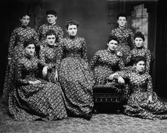 same dress, late 1800s...too much of a good thing