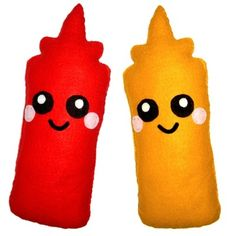 Sauce Bottle Plush Cushion
