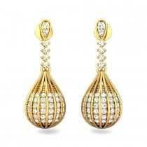 Bhumika Diamond Jhumki  Watch out more diamond jewellery at http://www.candere.com/jewellery/womens-diamond-jhumkas.html