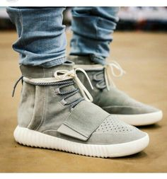 2016 West Yeezy 750 Boost Low Grey Shoes Men Women PrimeKnit Casual shoes Sport…