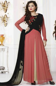 USD 67.26 Drashti Dhami Pink Georgette Bollywood Suit 54439