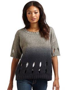 360 Sweater - Cutout Sweater in Grey