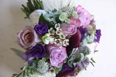 purple and silver wedding bouquets | ... Seasonal Wedding Bouquet in Purple Shades for a September Wedding Day