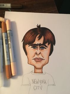 Liam Gallagher with copic markers
