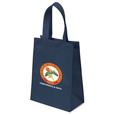 The Custom Branded Mamie Non-Woven Tote Bag hasstitched seams, side and bottom gussets, and reinforced sewn handles.