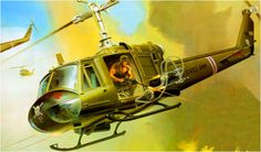Bell UH-1B Gunship in Vietnam