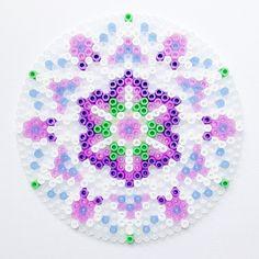 Purple mandala hama perler beads by coriander_dk