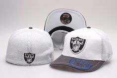 NFL Oakland Raiders Team Logo Size Hat Peaked Cap Baseball Hats Size S-M and L-XL, two sizes 3294|only US$8.90