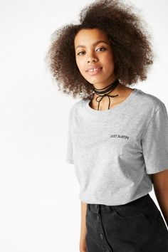f853b78a4a18 Back to basics with this plain tee