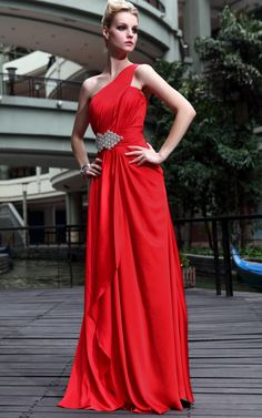 New Fashion Red Cocktail Prom Satin Ball Beading Formal Long Evening Dress
