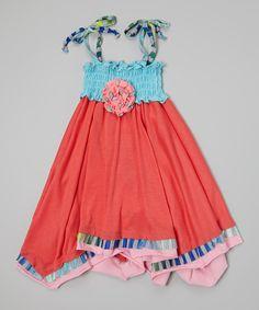 Look what I found on #zulily! Orange Tie Handkerchief Dress - Toddler & Girls by Twirls & Twigs #zulilyfinds