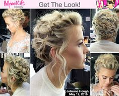 Julianne Hough is the queen bee of braids! May 12 was no exception for the 'Dancing With The Stars' judge, who dazzled us with her sweet braided updo. Want to copy Julianne's intricate hairstyle? Click here!