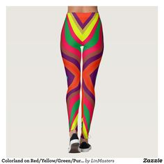 Colorland on Red/Yellow/Green/Purple Fashion Leggings : Beautiful #Yoga Pants - #Exercise Leggings and #Running Tights - Health and Training Inspiration - Clothing for #Fitspiration and #Fitspo - #Fitness and #Gym #Inspo - #Motivational #Workout Clothes - Style AND #comfort can both be possible in one perfect pair of custom #leggings. #Colorland on Red/Yellow/Green/Purple Fashion Leggings was crafted made with care each pair of leggings is printed before being sewn allowing for #fun and…
