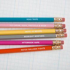 Summer pencil set