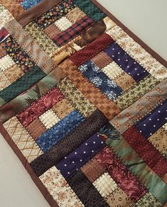 Quilted Table Runner Primitive or County Home Decor, Perfect for narrow table
