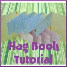 How to Make a Flag Book; minibook tutoral
