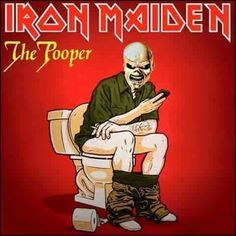 Iron Maiden Eddie Vinyl Mash Up Parody (Source Unknown) Rock N Roll, Classic Rock And Roll, Heavy Metal Art, Heavy Metal Bands, Heavy Metal Funny, Iron Maiden Cover, Iron Maiden Posters, Iron Maiden Albums, Where Eagles Dare