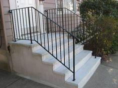 Precast concrete outside steps are durable steps. The precast concrete outside steps are made by pouring and casting liquid concrete in a reusable mold off-site. Concrete Patios, Concrete Front Steps, Cement Steps, Concrete Porch, Precast Concrete, Patio Steps, Outdoor Steps, Indoor Outdoor, Beton Design