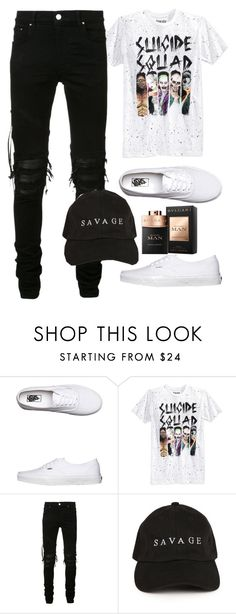 """Untitled #668"" by justinbieber-zaikara ❤ liked on Polyvore featuring Vans, Bioworld, AMIRI, men's fashion and menswear"