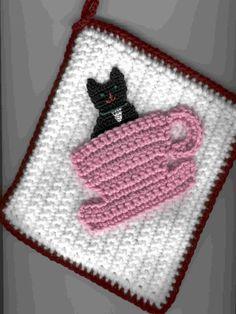 Gattino in un modello di PDF presina tazza tè di dansbrat su Etsy