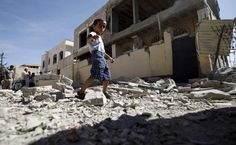 At least 16 Yemeni civilians including ten people from a single family were killed in nationwide air strikes by a Saudi-led military coalition on Saturday, medics in three provinces said. World Economic Forum, World Peace, 4k Hd, Countries Of The World, Destruction, Britain, At Least, Street View, War