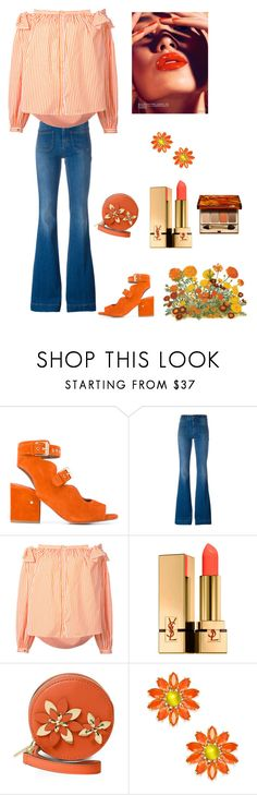"""""""Spring"""" by kotnourka ❤ liked on Polyvore featuring Laurence Dacade, STELLA McCARTNEY, Maison Rabih Kayrouz, Yves Saint Laurent, MICHAEL Michael Kors, Kate Spade and Clarins"""