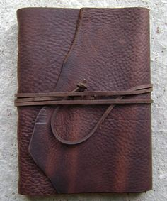 Rustic leather journal by dancing grey studio | Dancing Grey Studio