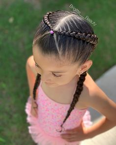 12 Lovely Kids Braided Hair Ideas For 2020 New Trendy Hair Ideas Cute Toddler Hairstyles, Kids Curly Hairstyles, Cute Little Girl Hairstyles, Cute Girls Hairstyles, Pretty Hairstyles, Black Hairstyle, Natural Hairstyles, Toddler Hair Dos, Formal Hairstyles