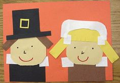 TLC pilgrims!  I like to do a speech bubble with this one, after teaching about differences between pilgrim children & children today.