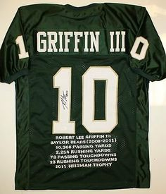 Autographed Robert Griffin III Jersey - Baylor Bears Stat Authenticated -  JSA Certified - Autographed College ed7b2116d