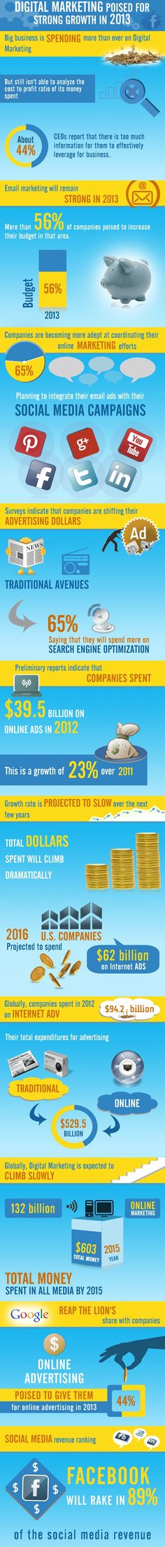 #Infographic - Growth of digital marketing in 2013