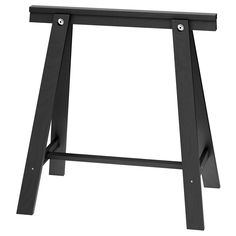 ODDVALD Trestle from Ikea. Two are $30; if I can put a little wooden shelf along the bottom brace, that would make it as good as the FINNVARD for me. Hmm.
