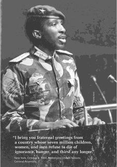 """""""I bring you fraternal greetings"""", Thomas Sankara x"""