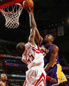 Mutombo moves into second on all-time blocks list as Rockets thump Lakers Dikembe Mutombo, Block Party, Houston Rockets, Nba Players, Nba Basketball, Boxing, All About Time, Action, Draw