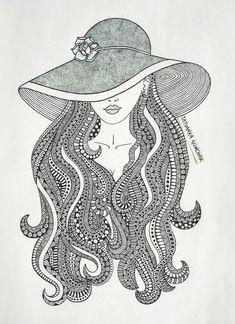 zentangle by Tatyanka-Gunchak on DeviantArt Art Drawings Beautiful, Cool Art Drawings, Art Drawings Sketches, Pencil Art Drawings, Sketch Drawing, Doodle Art Drawing, Zentangle Drawings, Mandala Drawing, Zentangle Art Ideas