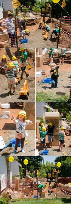 CONSTRUCTION THEME BIRTHDAY PARTY i really think i might have to do a half year party at some point because i love this idea so much.