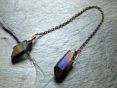 Titanium Crystal Electroplated Raw Rough Quartz by byAngeline, $22.00
