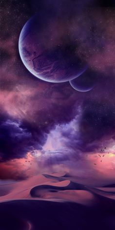 astronomy, outer space, space, universe, scenery, landscapes, skies, clouds, planets, deserts